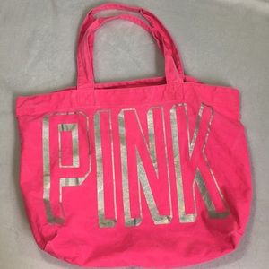 Pink Canvas Tote Bag